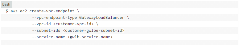 create vpc endpoint load balancer